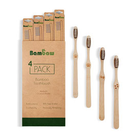 BAMBAW - Pack 4 brosse à dents