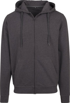 TERRY ZIP HOODY CHARCOAL