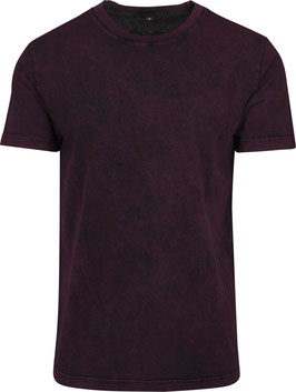 T-SHIRT ACID WASHED BERRY BLACK