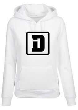 DESIGN+ HOODY L WHITE