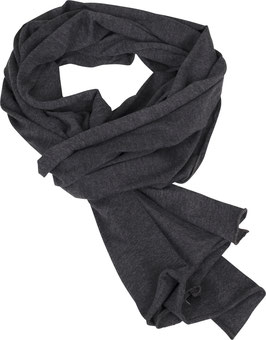 JERSEY SCARF CHARCOAL