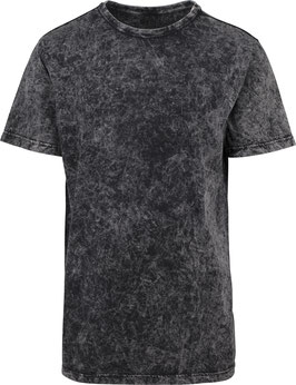 T-SHIRT ACID WASHED DARKGREY WHITE