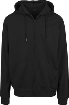 TERRY ZIP HOODY BLACK