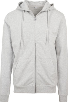 TERRY ZIP HOODY HEATHER GREY