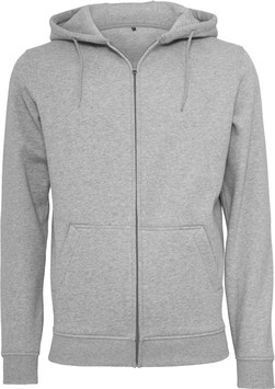 ZIP HOODY HEATHER GREY