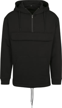 SWEAT PULL OVER HOODY BLACK