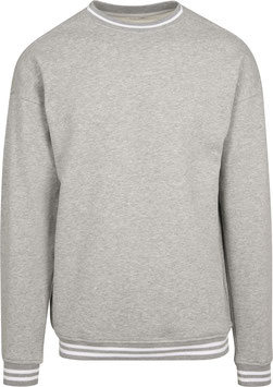 COLLEGE SWEAT HEATHER GREY/WHITE