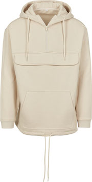 SWEAT PULL OVER HOODY SAND