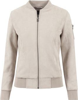 Ladies Imitation Suede Bomber Jacket