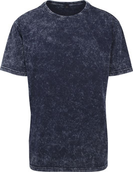 T-SHIRT ACID WASHED INDIGO WHITE