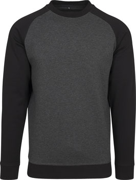 RAGLAN CREWNECK CHARCOAL/BLACK