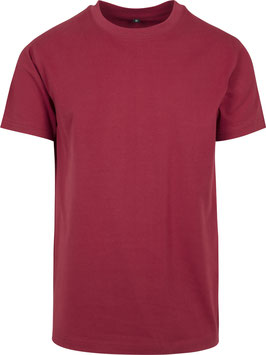 T-SHIRT ROUND NECK BURGUNDY