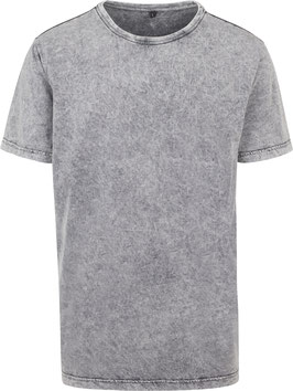 T-SHIRT ACID WASHED GREY BLACK