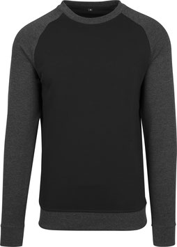 RAGLAN CREWNECK BLACK/CHARCOAL