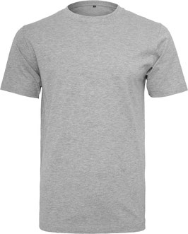 T-SHIRT ROUND NECK HEATHER GREY