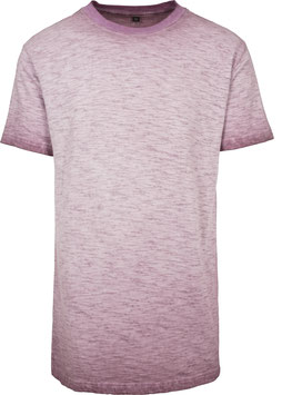 SPRAY DYE T-SHIRT BURGUNDY