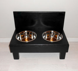 Futterbar Hund, 2 x 1500 ml, schwarz, erhöht