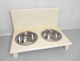 Futterbar Hund, 2 x 1500 ml, hell elfenbein