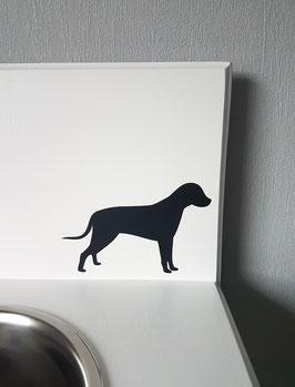 Hund stehend  Nr. 3,  ca. 14 x 9 cm, verschiedene Farben zur Auswahl