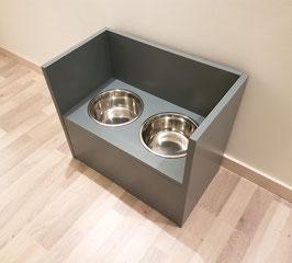 Futterbar Hund, 2 x 1500 ml, anthrazit, geschlossen unten