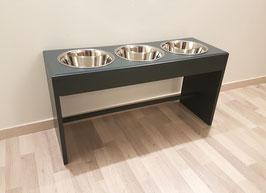 Futterbar Hund, 3 x 1500 ml, -Buche- anthrazit, 30 cm Napfebene