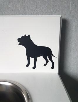 Hund groß Nr. 1,  ca. 13 x 12 cm, verschiedene Farben zur Auswahl