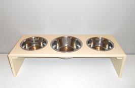 Futterbar Hund, 2 x 1500 ml / 1 x 2400 ml (Mitte), elfenbein