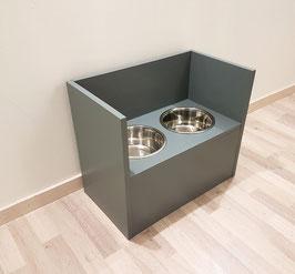 Futterbar Hund, 2 x 2400 ml, anthrazit, geschlossen unten