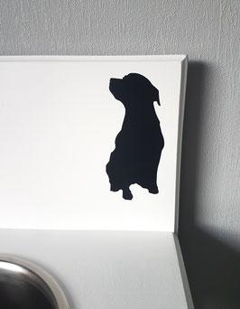 Hund sitzend Nr. 1,  ca. 7 x 14 cm, verschiedene Farben zur Auswahl