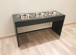 Futterbar Hund, 3 x 1500 ml, -Buche- anthrazit, 40 cm Napfebene