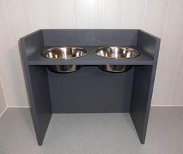 Futterbar Hund, 2 x 2400 ml, anthrazit, unten offen