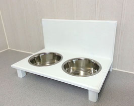 Futterbar Hund, 2 x 1500 ml, weiß