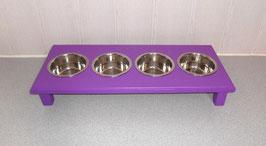 Futterbar Katze, 4 x 350 ml, lila