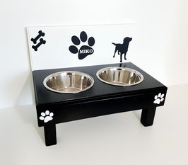 Futterbar Hund, 2 x 1500 ml, 2 Farbig, verschiedene Dekoration -auch mit Wunschnamen-