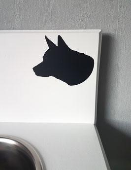 Hunde Kopf Nr. 1,  ca. 13 x 10 cm, verschiedene Farben zur Auswahl