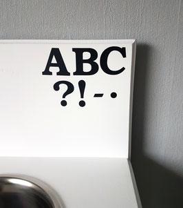 8-12 Zeichen (Buchstaben), Schriftzug / Name: ca. 4,5 x 5 cm, verschiedene Farben zur Auswahl