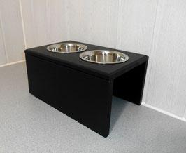 Futterbar Hund, 2 x 750 ml, schwarz