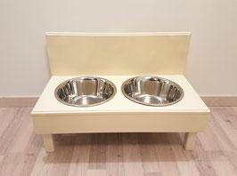 Futterbar Hund, 2 x 1500 ml, elfenbein, erhöht