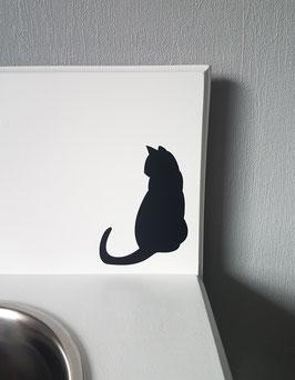 Katze sitzend Nr. 1,  ca. 9 x 13 cm, verschiedene Farben zur Auswahl