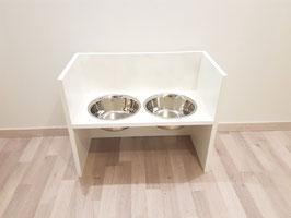 Futterbar Hund, 2 x 2400 ml, weiß, unten offen