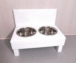 Futterbar Hund, 2 x 1500 ml,  weiß, erhöht