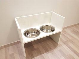 Futterbar Hund, 2 x 1500 ml, weiß, unten offen