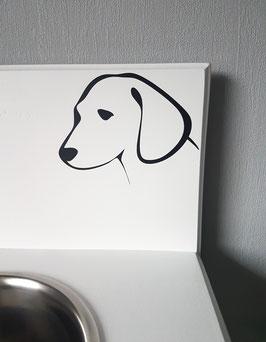 Hunde Gesicht Nr. 1,  ca. 15 x 11 cm, verschiedene Farben zur Auswahl