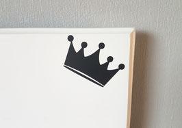 Krone,  ca. 8 x 5 cm, verschiedene Farben zur Auswahl