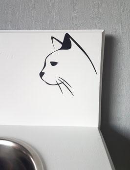 Katze Gesicht Nr, 1,  ca. 12 x 13 cm, verschiedene Farben zur Auswahl