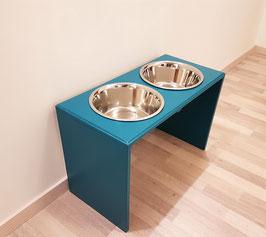 Futterbar Hund, 2 x 1500 ml, türkis, 30 cm hoch