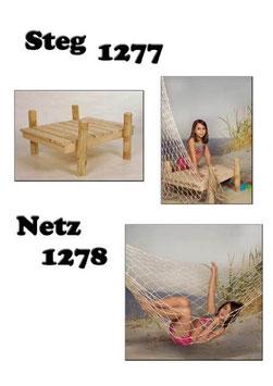 Steg – Holz / Fischernetz