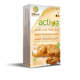 BISCUITS SANS SUCRE AUX AMANDES BELKORN ACTIVA 150 g