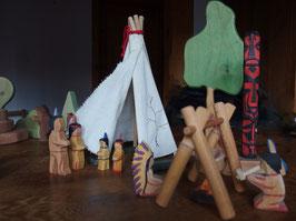 Holz-Spielzeug Indianer von Ostheimer