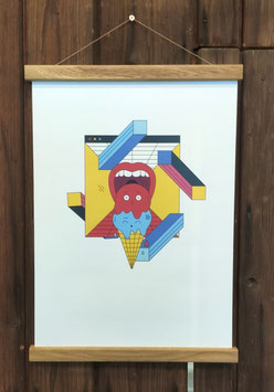 Posterleiste aus Holz -magnetisch-